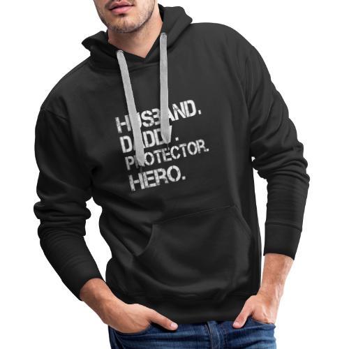 Husband ydadd protector hero T Shirt cool father - Men's Premium Hoodie
