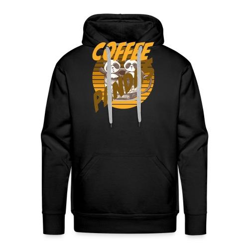 Coffee Pandas Coffee Color Zwei Pandas Kaffeetasse - Männer Premium Hoodie