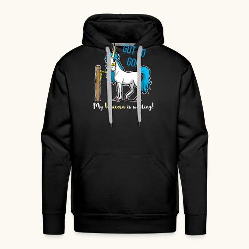 Dessin drôle de licorne disant bande dessinée cadeau - Sweat-shirt à capuche Premium pour hommes