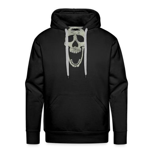 skull scary face - Sudadera con capucha premium para hombre