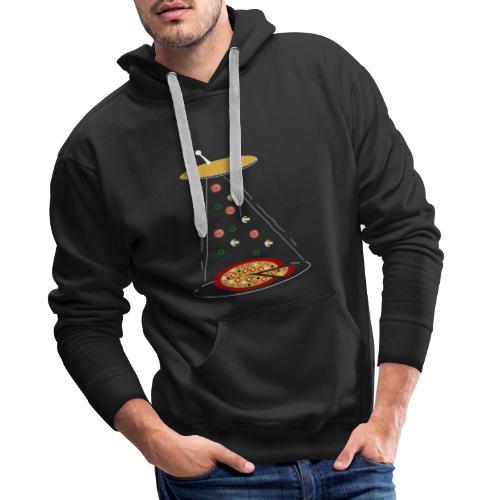 Pizza UFO divertente - Felpa con cappuccio premium da uomo