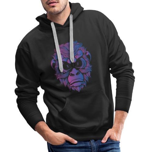 Affe Gorilla Gesicht - Männer Premium Hoodie
