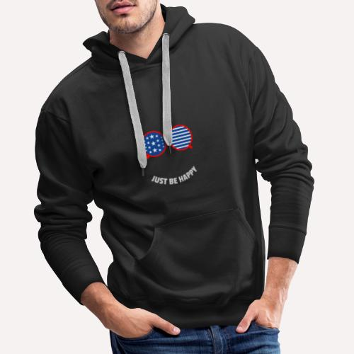 Be Happy, enjoy life and spread happiness - Men's Premium Hoodie
