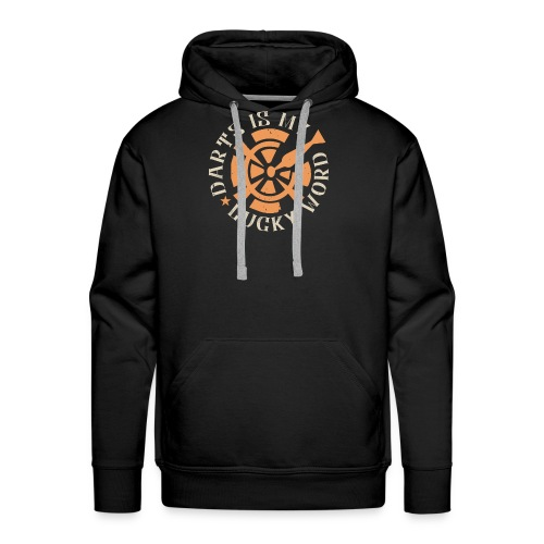Darts Is My Lucky Word - Mannen Premium hoodie