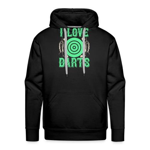 I Love Darts - Mannen Premium hoodie