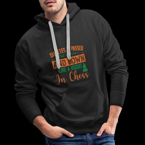 Diabetes is passed that way over and down, like a - Sweat-shirt à capuche Premium pour hommes