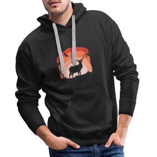 Deer Horizon - Männer Premium Hoodie