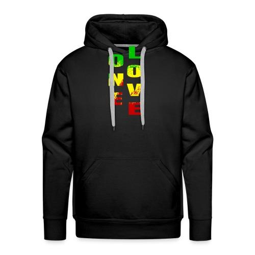 One Love Beautiful Rasta colours for Rastafarian - Sweat-shirt à capuche Premium pour hommes