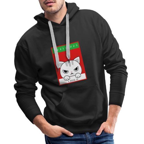 Ik haat kerstmis boze kat - Mannen Premium hoodie