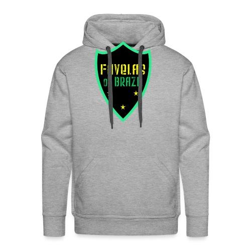 FAVELAS OF BRAZIL NOIR VERT DESIGN - Sweat-shirt à capuche Premium pour hommes