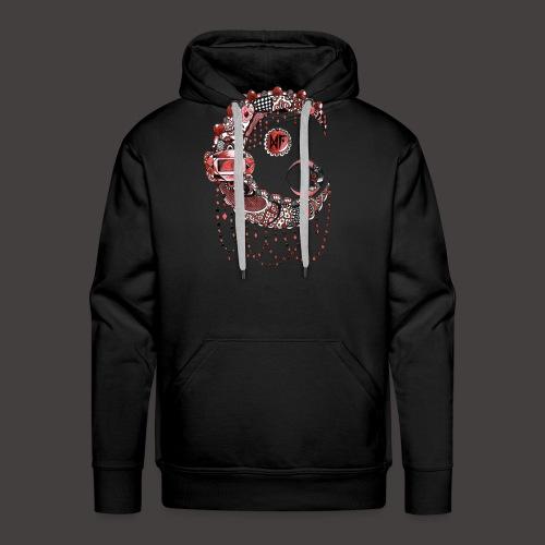 Lune dentelle Rouge - Sweat-shirt à capuche Premium pour hommes