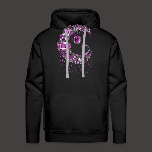 Lune dentelle Rose - Sweat-shirt à capuche Premium pour hommes