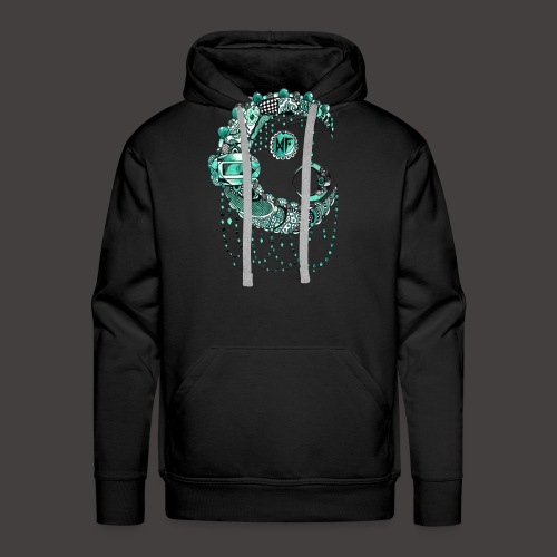 Lune dentelle Turquoise - Sweat-shirt à capuche Premium pour hommes