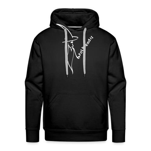 magicien calligraphie tolkiendil - Sweat-shirt à capuche Premium pour hommes