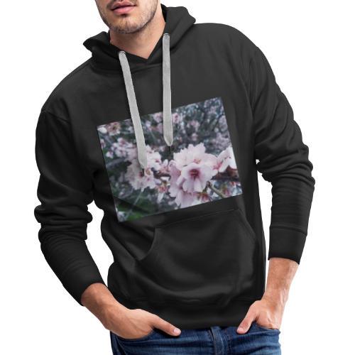 Vetement avec image fleurs de sakura - Sweat-shirt à capuche Premium pour hommes