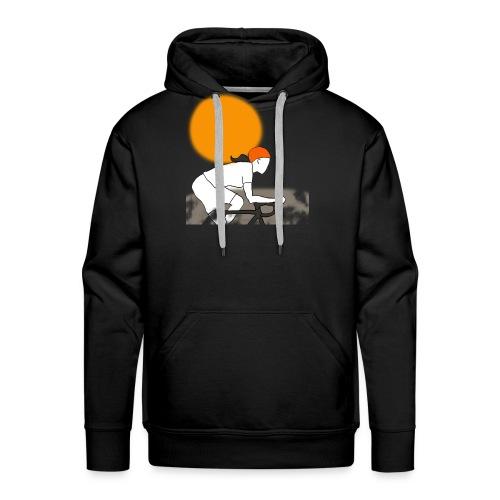 female cyclist - Mannen Premium hoodie