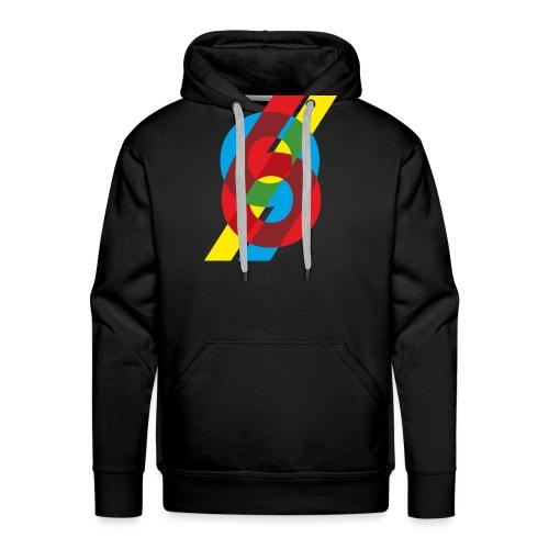 colorful numbers - Men's Premium Hoodie