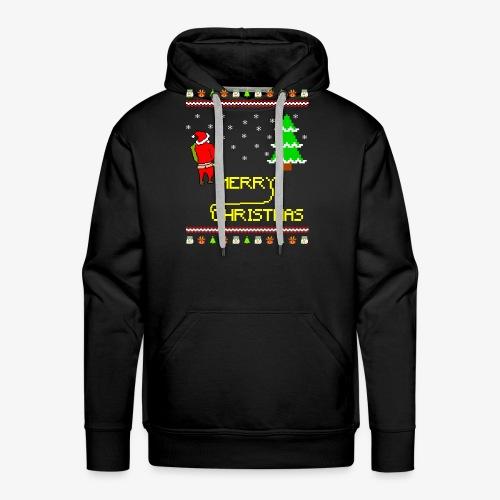 Merry Christmas Ugly Xmas Lustig Pinkelnder Santa - Männer Premium Hoodie