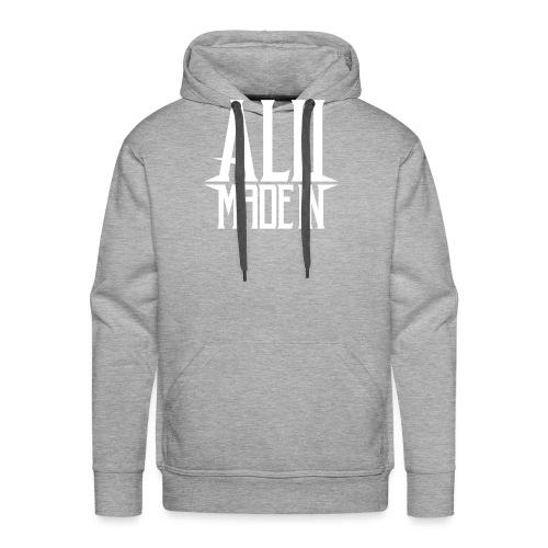 logo_alumadein_vecto_blan - Sweat-shirt à capuche Premium pour hommes