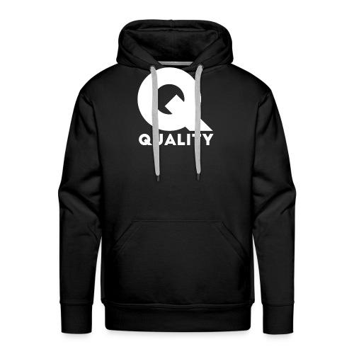 Quality White - Sudadera con capucha premium para hombre