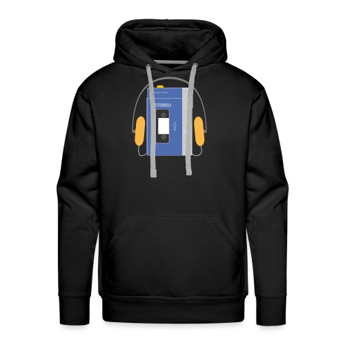 Stereo walkman in blue - Men's Premium Hoodie