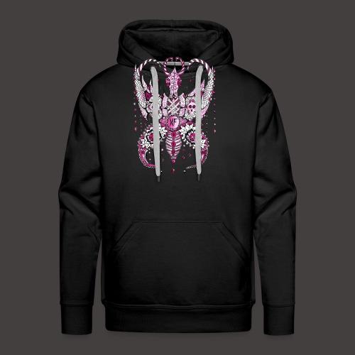 Papillon Lilou Rose - Sweat-shirt à capuche Premium pour hommes