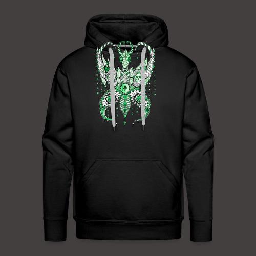 Papillon Lilou Vert - Sweat-shirt à capuche Premium pour hommes