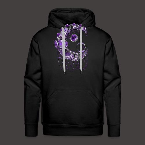 Lune dentelle Violette - Sweat-shirt à capuche Premium pour hommes