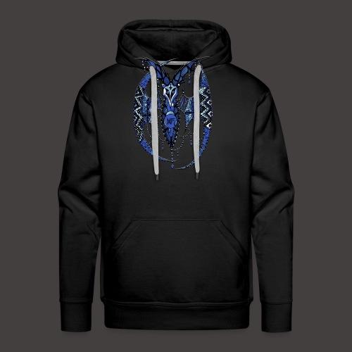 Chauve Souris Dentelle Bleue - Sweat-shirt à capuche Premium pour hommes