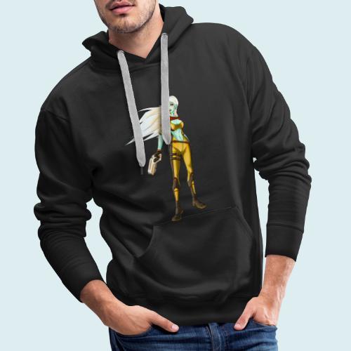 sci fi hunter - Felpa con cappuccio premium da uomo