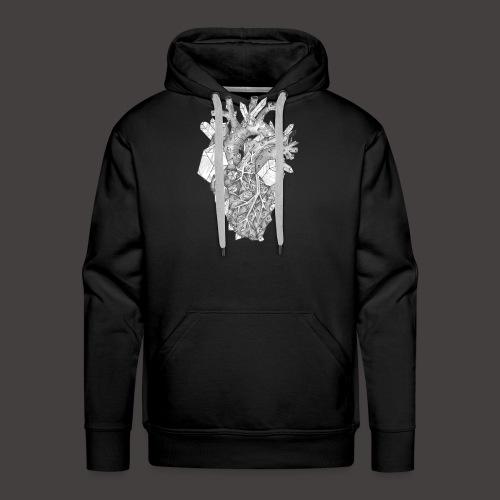 Le Coeur de Cristal - Sweat-shirt à capuche Premium pour hommes