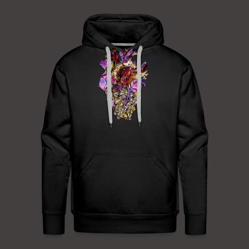 Le Coeur de Cristal Creepy - Sweat-shirt à capuche Premium pour hommes