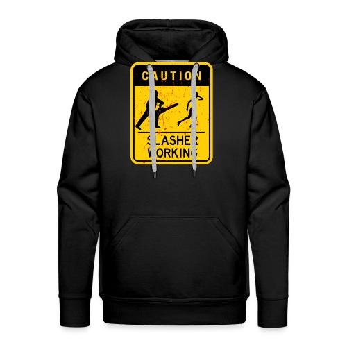 Slasher working - Sweat-shirt à capuche Premium pour hommes