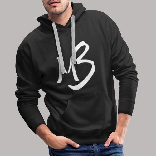 MB 13 white - Men's Premium Hoodie