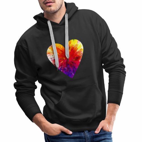 Herz Kristall - Männer Premium Hoodie