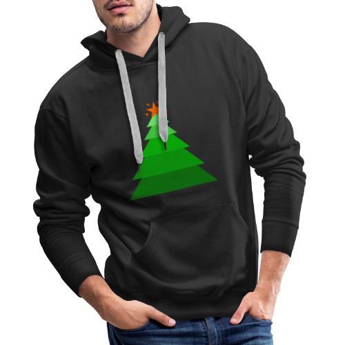Arbol de navidad con estrella - Sudadera con capucha premium para hombre