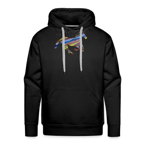 licorne multicolor - Sweat-shirt à capuche Premium pour hommes
