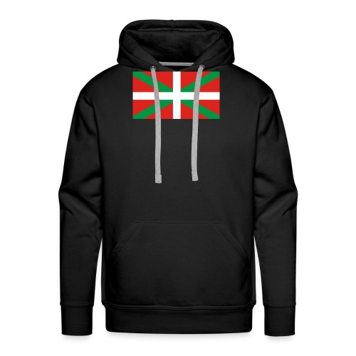 Camiseta ikurriña - Sudadera con capucha premium para hombre