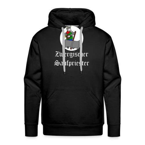 Zwergischer Saufpriester (weiße Schrift) - Männer Premium Hoodie