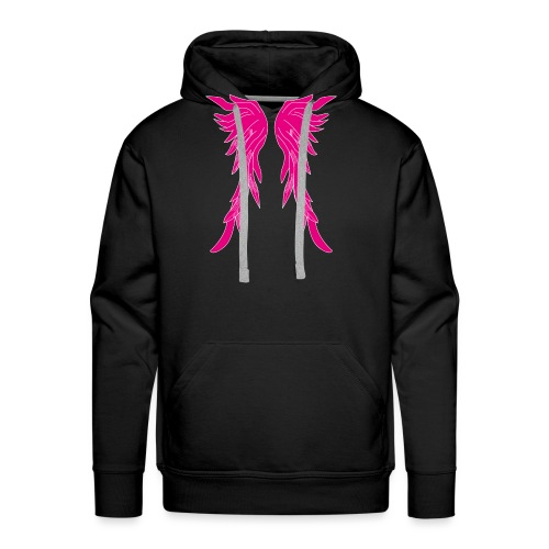 Pinke Flügel - Männer Premium Hoodie