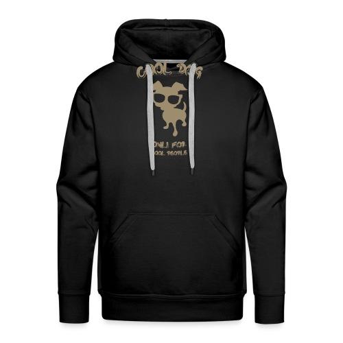 COOL DOG Tortora - Felpa con cappuccio premium da uomo