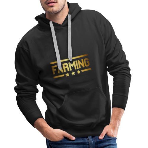 00364 Farming dorado - Sudadera con capucha premium para hombre