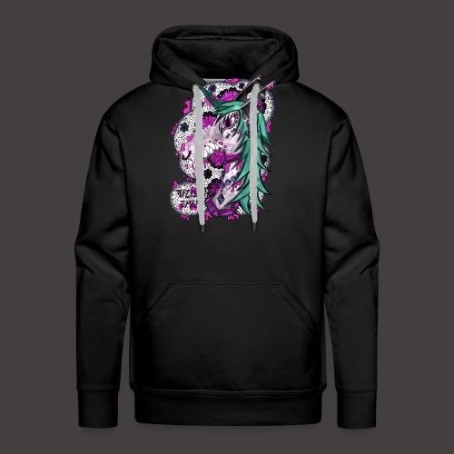 Vampiry Baty girly fond noir - Sweat-shirt à capuche Premium pour hommes