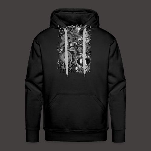 AGAC Picture Noir et Blanc - Sweat-shirt à capuche Premium pour hommes
