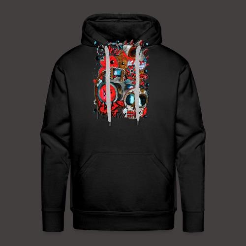 AGAC Picture Rouge et Bleu - Sweat-shirt à capuche Premium pour hommes