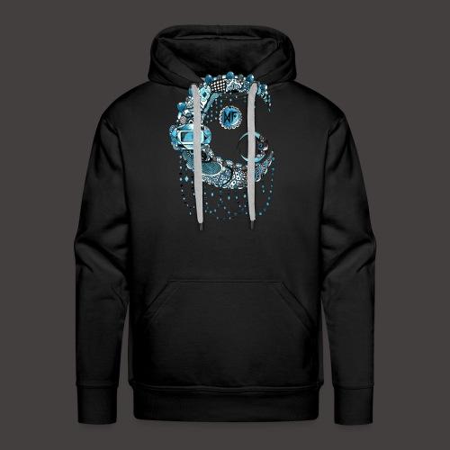 Lune dentelle bleue - Sweat-shirt à capuche Premium pour hommes