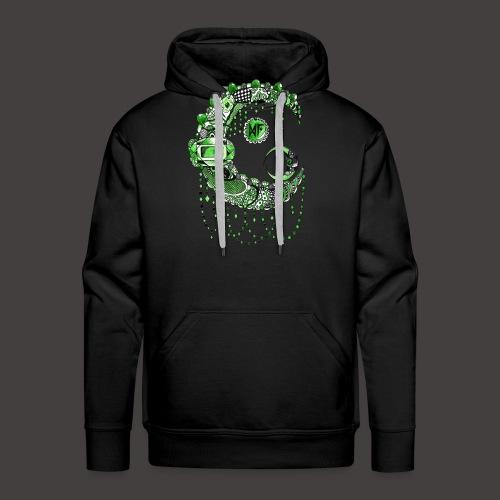 Lune dentelle Verte - Sweat-shirt à capuche Premium pour hommes