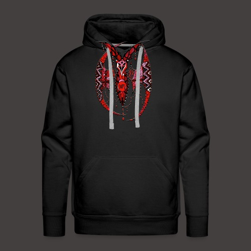 Chauve Souris Dentelle Rouge - Sweat-shirt à capuche Premium pour hommes