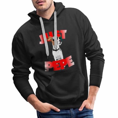 Just Pepe Hund Merch - Männer Premium Hoodie