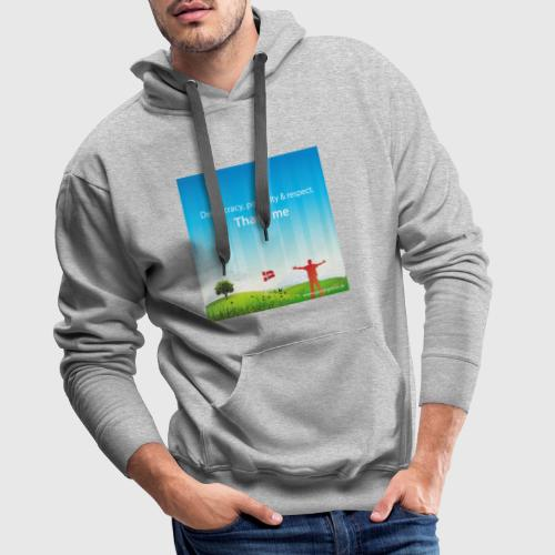 Rolling hills tshirt - Herre Premium hættetrøje